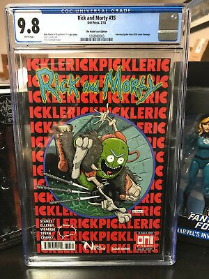 Rick and Morty 35 variant alex Cormack brain trust cgc 9.8 first pickle rick!