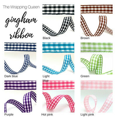 Grosgrain ribbon 5/10m BULK lot CLEARANCE, gingham for sewing, hair, party decor