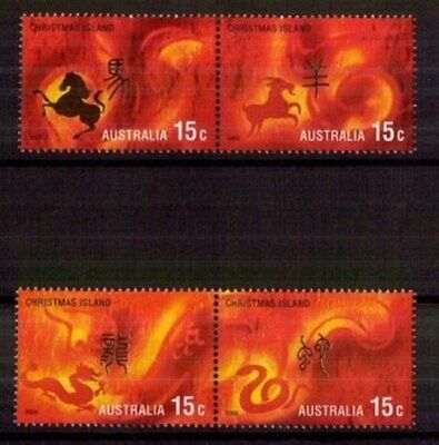 M0195sbs Christmas Island 2002 Year of Horse 15c MUH Stamps