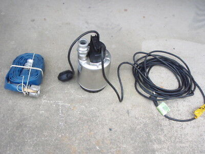 Lowara stainless steel DOC7  submersible pump float switch hose camlock
