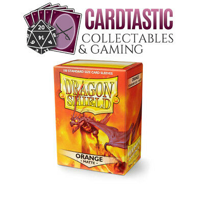Dragon Shield Orange Matte Standard 100 Card Sleeves