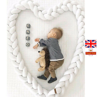 300cm Baby Bed Bumper Pure Plush Baby Crib Protector For Newborn Baby Room Decor