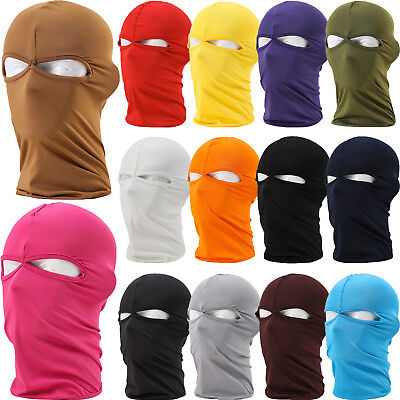 Outdoor Motorcycle Full Face Mask Windproof Neck Protect Lycra Balaclava Hoods