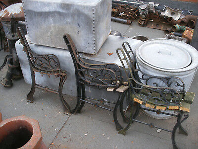 Antique / vintage cast iron childrens / small bench / chair ends