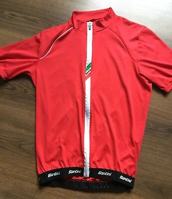 Santini Zeit Lite Cycling Jersey. New no tags. XL Red