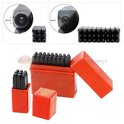 36 Number & Letter Punches 1mm Jewelry Hand Tool Stamps Hammer Jewelers Set