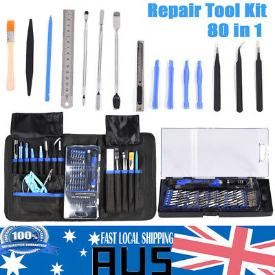 80 in 1 Repair Opening Tool Kit Screwdriver Set For Phones Laptops PC Electronic