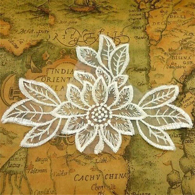 FD1730 Lace Flora Flower Embroidery DIY Sewing Craft Collar Patch Appliques 1PC