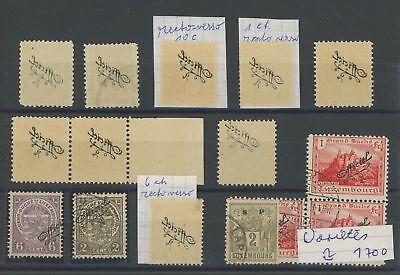 LUXEMBOURG OFFICAL STAMPS ABARTEN ERRORS VARIETIES VERY NICE AND RARE!! h2143