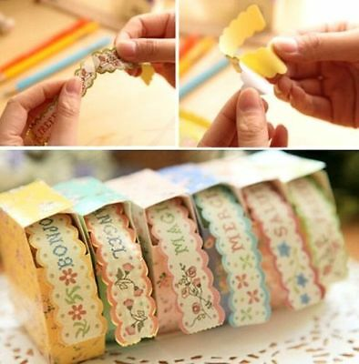 FD4652 Floral Sticker Tape Retro Pastoral Stationery Craft Paper DIY Diary 1pc