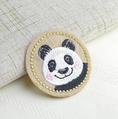 Embroidery Panda Cloth Patch Iron On Patch Sew Motif Applique Patch Gift DIY @