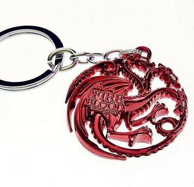 Game of Thrones Keychains Fire and Blood Key Ring House Targaryen Keyrings