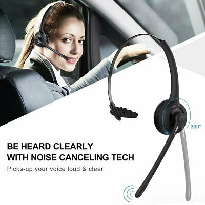 Mpow Bluetooth Call Center Office Phone Modular Telephone Voice Chat Headset