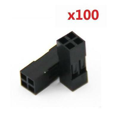 100Pcs 2x2p Dupont Jumper Wire Cable Housing Pin Connector 2.54mm Pitch @