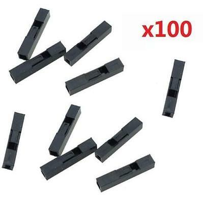 100pcs 1P Dupont Jumper Wire Cable Housing Female Pin Connector 2.54mm Pitcs @
