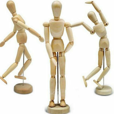 "FD3762 Wooden Wood Human Figure 8"" Unisex Manikin Mannequin Artist Drawing Model"