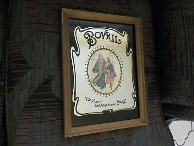 Vintage Collectable  bovril Pub bar  Advertising wall Mirror Breweriana