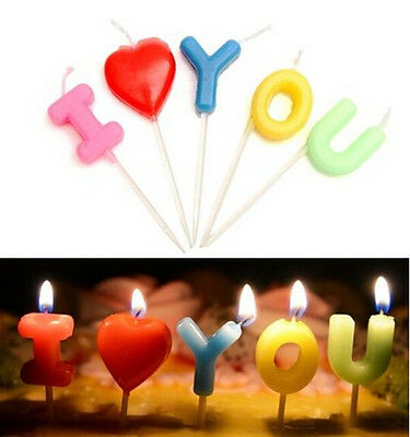 FD3115 Happy Birthday Candles Toothpick Cake Candles Party Decor ~I LOVE YOU~