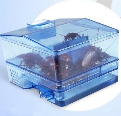 3 Doors Pest Control Tool Cockroach Trap Container Collect & Killer Catcher @
