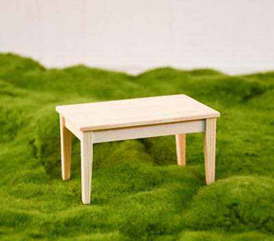 1:12 Dollhouse Miniature Furniture Wooden Rectangle Table For Living Room@