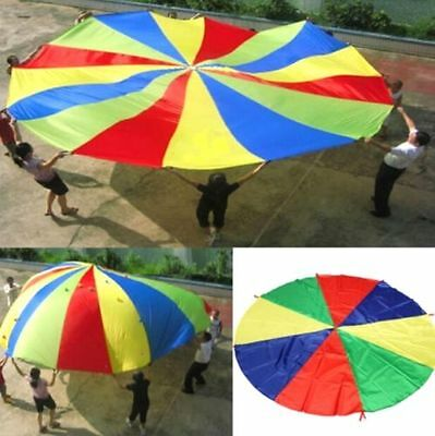 FD3448 Kids Play Jumpsack Rainbow Parachute Outdoor Game Exercise Sport Toy 2M