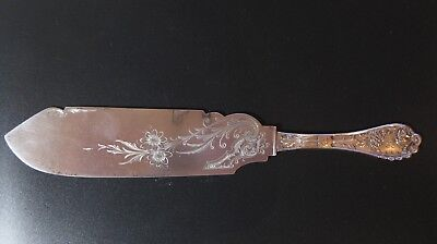 """Undine by Wood & Hughes All Sterling FISH / PASTRY? KNIFE Server - 10 1/8""""~RARE"""