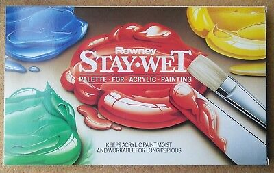Rowney Stay Wet Palette complete with membranes & filter papers Acrylic New