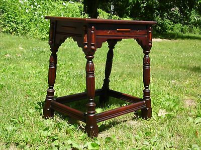 Antique English style Jacobean Joint Stool Side Table Nightstand
