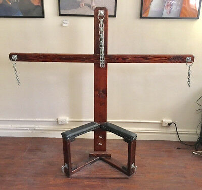 Custom Bdsm Fetish Dungeon Furniture Cross Chair 199 00 Picclick