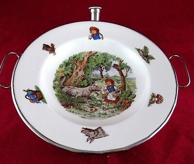Vintage Little Red Riding Hood Child's Warming Dish Plate Dutch Benraad Holland