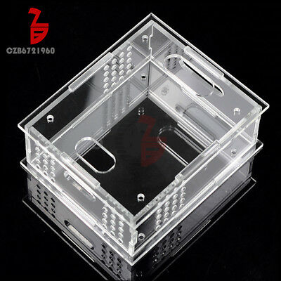 Transparent Acrylic Case Box Shell DIY Kit for ZVS Tesla Flyback Driver Board