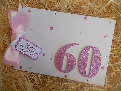 Personalised 60Th Birthday Guest Book Scrapbook Memory Album Gift Multi Use
