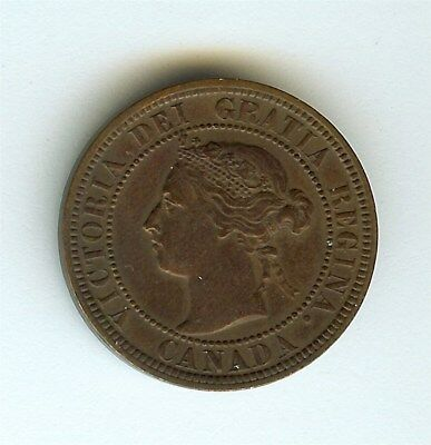 Canada 1892 Large Cent  About Uncirculated
