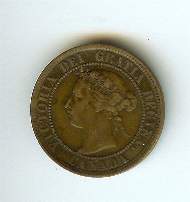 Canada 1894 Large Cent  About Uncirculated