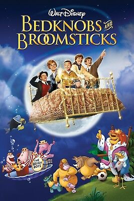 """""""Bedknobs And Broomsticks""""..Angela Lansbury Classic Movie Poster Various Sizes"""