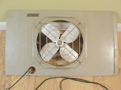 Vintage Manning Bowman Industrial Wall Fan Expandable Model 1050 M 3' WORKS