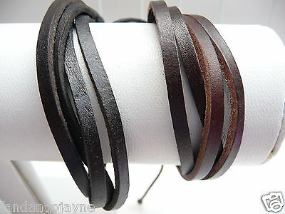Men's / Boys Leather Wristband set * Clearance Sale *
