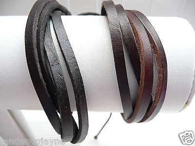 Men's / Boys Leather Wristband set