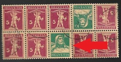 M-43 Switzerland block of 10 stamps, block of 4 stamps tete beche, William Tell