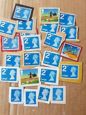 Small lot of 19 x 2nd large and 4 x 2nd letter unfranked stamps