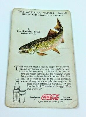 1930 Coca Cola~The World of Nature~Life In,Around Water~#1 Speckled Trout~Ser. 7