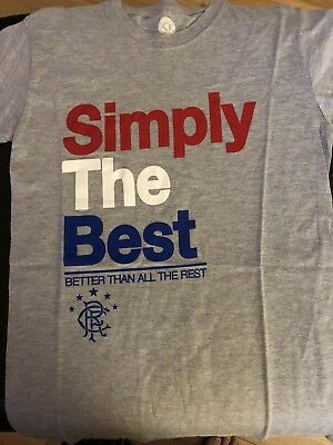 Rangers Fc Simply The Best T Shirt Brand New (Mens small)