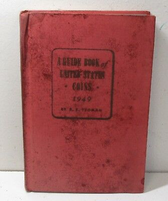 1949 Guide Book Of United States Coins Hardcover Red Book Used/Musty #2