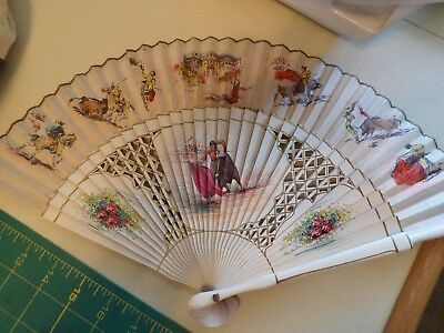 Lady's Fan  SPANISH LADIES FAN BULLFIGHTER & More, Gently Used if at all