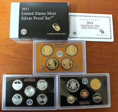 2011 US Silver PROOF Coin Set - 14-Coins - United States Mint Official