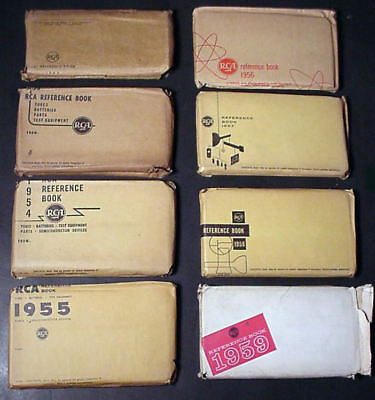 Lot Of 8 Vintage Rca Tube Reference Books, 1946, 1953-59, Six Still Wrapped!!