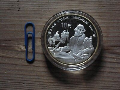 China  Tolle Medaille oder Münze  William Shakespeare