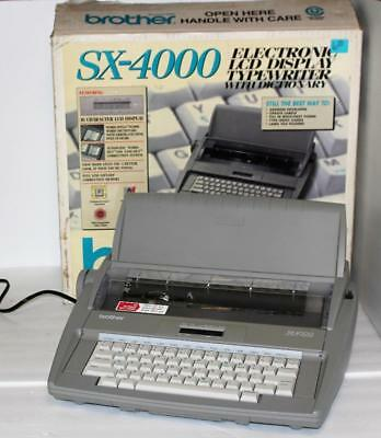 Brother SX-4000 Electronic LCD Display Typewriter with Dictionary with Box