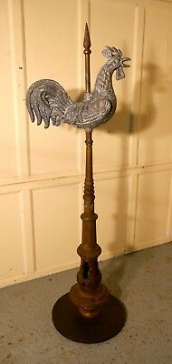 Cockerel Weather Vane Mounted on a Tower Roof Finial