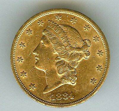 1884-Cc Liberty Head $20 Gold Double Eagle  Uncirculated